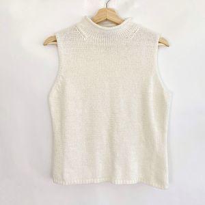 Amanda Smith Womens Knit Tops Off-White Size M